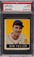 Baseball Cards:Singles (1940-1949), 1948 Leaf Bob Feller SP #93 PSA EX-MT 6....