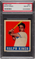 Baseball Cards:Singles (1940-1949), 1948 Leaf Ralph Kiner #91 PSA NM-MT 8....