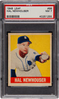 Baseball Cards:Singles (1940-1949), 1948 Leaf Hal Newhouser SP #98 PSA NM 7....