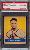 Baseball Cards:Singles (1940-1949), 1948 Leaf George Kurowski SP #81 PSA EX-MT 6....