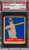 Baseball Cards:Singles (1940-1949), 1948 Leaf Edward Stewart SP #104 PSA EX-MT 6....