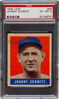 Baseball Cards:Singles (1940-1949), 1948 Leaf Johnny Schmitz SP #48 PSA EX-MT 6....