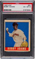 Baseball Cards:Singles (1940-1949), 1948 Leaf Bobby Adams SP #54 PSA EX-MT 6....