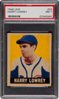 Baseball Cards:Singles (1940-1949), 1948 Leaf Harry Lowrey SP #33 PSA NM 7....