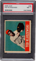 Baseball Cards:Singles (1940-1949), 1948 Leaf Ted Kluszewski #38 PSA NM 7....