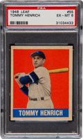 Baseball Cards:Singles (1940-1949), 1948 Leaf Tommy Henrich SP #55 PSA EX-MT 6....