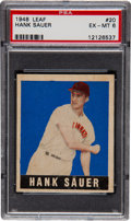 Baseball Cards:Singles (1940-1949), 1948 Leaf Hank Sauer SP #20 PSA EX-MT 6....
