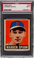 Baseball Cards:Singles (1940-1949), 1948 Leaf Warren Spahn #32 PSA NM 7....