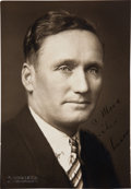 Autographs:Photos, Circa 1930 Walter Johnson Signed Photograph....