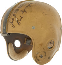 Early 1960's Army Black Knights Game Worn Helmet - Signed by Davis, Blanchard and others