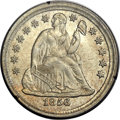 Seated Dimes, 1856 10C Small Date MS65 PCGS. CAC. Fortin-103....