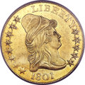 Early Eagles, 1801 $10 MS62 PCGS. CAC. Breen-6843, BD-2, R.2....
