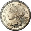 Proof Three Cent Nickels, 1865 3CN PR66 Deep Cameo PCGS....