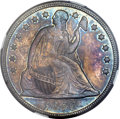 Seated Dollars, 1857 $1 MS64 NGC. CAC....