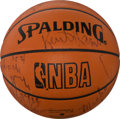 Basketball Collectibles:Balls, 1987-88 Los Angeles Lakers Team Signed Leather NBA Basketball -World Championship Season!...