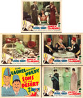 """Movie Posters:Comedy, Sons of the Desert (Film Classics, R-1940s). Title Lobby Card andLobby Cards (4) (11"""" X 14"""").. ... (Total: 5 Items)"""