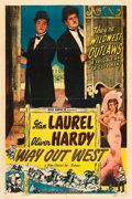 """Movie Posters:Comedy, Way Out West (Film Classics, R-1947). One Sheet (27"""" X 41"""").. ..."""
