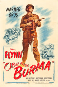 "Objective Burma (Warner Brothers, 1945). One Sheet (27"" X 41"")"