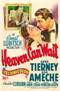 """Movie Posters:Comedy, Heaven Can Wait (20th Century Fox, 1943). One Sheet (27"""" X 41"""")....."""