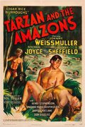 "Movie Posters:Adventure, Tarzan and the Amazons (RKO, 1945). One Sheet (27"" X 41"").. ..."