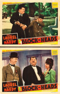 """Movie Posters:Comedy, Block-Heads (MGM, 1938). Lobby Cards (2) (11"""" X 14"""").. ... (Total:2 Items)"""