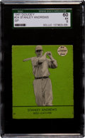 Baseball Cards:Singles (1940-1949), 1941 Goudey Stanley Andrews, Green SP #24 SGC 60 EX 5....