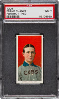 Baseball Cards:Singles (Pre-1930), 1909-11 T206 Sweet Caporal Frank Chance, Red Portrait PSA NM 7....