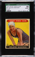 "Baseball Cards:Singles (1930-1939), 1933 Goudey ""Sport Kings"" Helene Madison #37 SGC 88 NM/MT 8 - PopTwo with None Higher...."