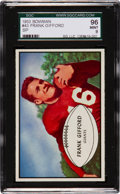Football Cards:Singles (1950-1959), 1953 Bowman Frank Gifford #43 SGC 96 Mint 9, Finest Example in the Hobby!...