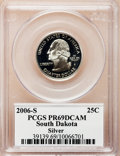 Proof Statehood Quarters, 2006-S 25C South Dakota Silver PR69 Deep Cameo PCGS. PCGSPopulation (3953/388). Numismedia Wsl. Price ...
