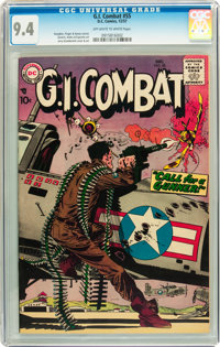 G.I. Combat #55 (DC, 1957) CGC NM 9.4 Off-white to white pages