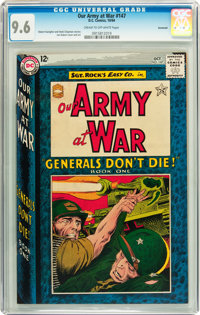 Our Army at War #147 Savannah pedigree (DC, 1964) CGC NM+ 9.6 Cream to off-white pages