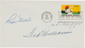 Baseball Collectibles:Others, 1969 Ted Williams, Joe DiMaggio & Roger Maris Signed First DayCover....