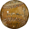 Autographs:Baseballs, 1920 Chicago White Sox Baseball with Six of The Eight Men Out....