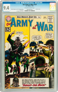 Our Army at War #124 (DC, 1962) CGC NM 9.4 Off-white to white pages