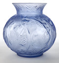 Art Glass:Other , A PIERRE D'AVESN GLASS POISSONS VASE . Pierre d'Avesn,Croismare, France, circa 1930. Unmarked. 10-1/2 inches hi...