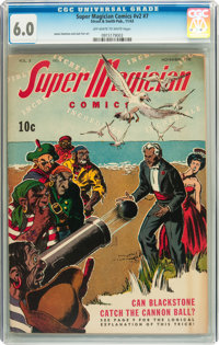 Super Magician Comics V2#7 (Street & Smith, 1943) CGC FN 6.0 Off-white to white pages