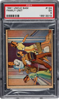Non-Sport Cards:Singles (Pre-1950), 1941 R158 Uncle Sam/Home Defense #124 PSA EX 5 - Pop Two, HighestKnown! ...