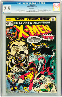 X-Men #94 (Marvel, 1975) CGC VF- 7.5 White pages