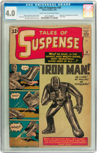 Tales of Suspense #39 (Marvel, 1963) CGC VG 4.0 Light tan to off-white pages