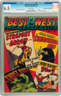 Best of the West #1 Mile High pedigree (Magazine Enterprises, 1951) CGC FN+ 6.5 White pages