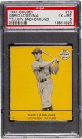 "Baseball Cards:Singles (1940-1949), 1941 Goudey Dario Lodigiani, Yellow #15 PSA EX-MT 6 - Finest""Yellow"" on Record. ..."