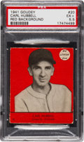 Baseball Cards:Singles (1940-1949), 1941 Goudey Carl Hubbell, Red #20 PSA EX+ 5.5 - Only One Higher!...