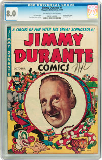 Jimmy Durante #1 (Magazine Enterprises, 1948) CGC VF 8.0 Off-white to white pages