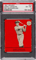 Baseball Cards:Singles (1940-1949), 1941 Goudey Dario Lodigiani, Red #15 PSA EX-MT 6 - Pop One with OneHigher....