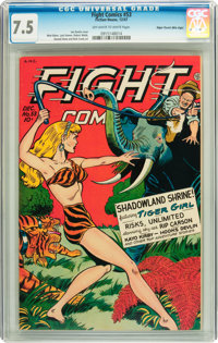 Fight Comics #53 Mile High pedigree (Fiction House, 1947) CGC VF- 7.5 Off-white to white pages