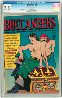 Buccaneers #20 Mile High pedigree (Quality, 1950) CGC VF- 7.5 Off-white to white pages