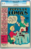 Golden Age (1938-1955):Humor, Popular Comics #40 Mile High pedigree (Dell, 1939) CGC FN- 5.5 Off-white to white pages....