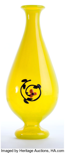 Charles Schneider Glass Vase The Yellow Vase With Lot 62225