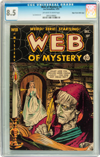 Web of Mystery #6 Mile High pedigree (Ace, 1951) CGC VF+ 8.5 Off-white to white pages